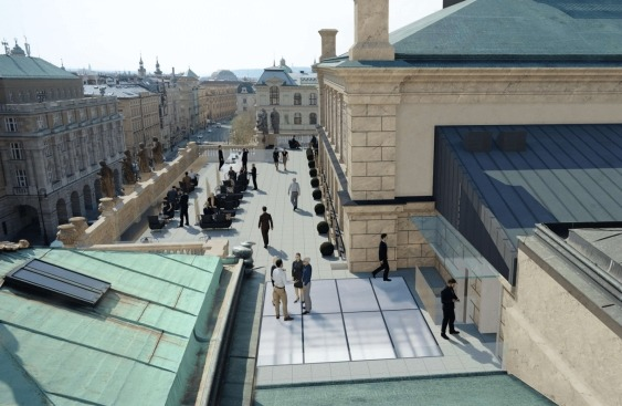 Arcona Capital leads reconstruction of Rudolfinum terraces